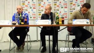 Pressekonferenz - 1. FC Magdeburg gegen Hannover 96 II 1:2 (1:1) - www.sportfotos-md.de
