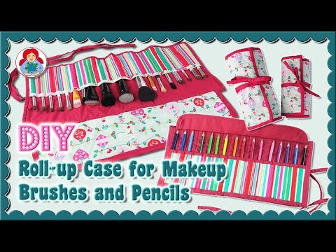 DIY | Roll-up Case For Makeup Brushes And Pencils • Sami Dolls Tutorial