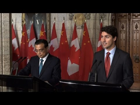 Trudeau says Canada exploring free trade deal with China