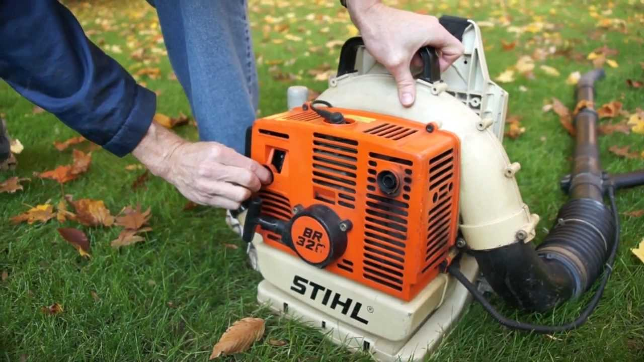 On Off Switch Stihl Blower : Stihl br backpack leaf blower youtube
