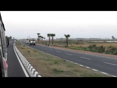 Highway Driving , new wide NH - 34 near Baharampur , Murshid