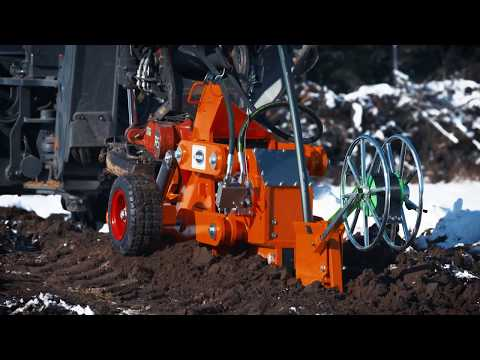 Vibrating Plough for underground cable - Sahlins Sweden