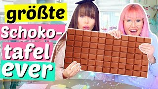 2 Dummis machen die größte Schokoladentafel der Welt 😱 XL DIY | ViktoriaSarina