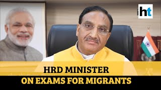 'Students can give CBSE board exams from city they are in': HRD Minister