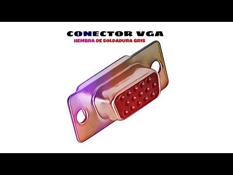 Video de Conector VGA hembra de soldadura  Gris