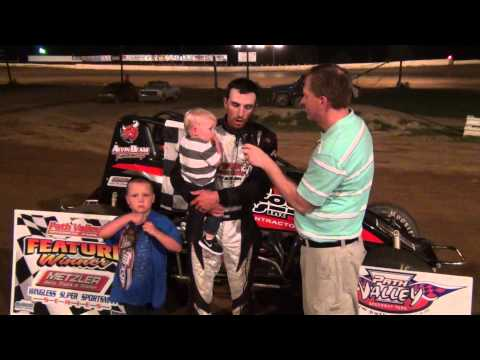 Tony Jackson in victory lane at Path Valley Speedway 7/17/15
