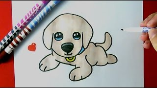 How to Draw a Cute Puppy EASY