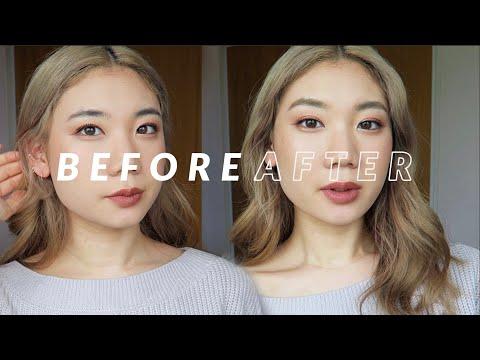 【眉マスカラ使い方】ブリーチなしで黒眉から金髪眉毛に変身 | Lightening Brows Without Bleach Using Brow Mascara【ENG SUBS】| KINOMI