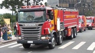Desfile de Viaturas do Corpo de Bombeiros do Paraná
