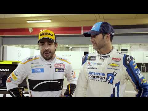 Johnson, Alonso take you inside the garage during #JJxALO car swap