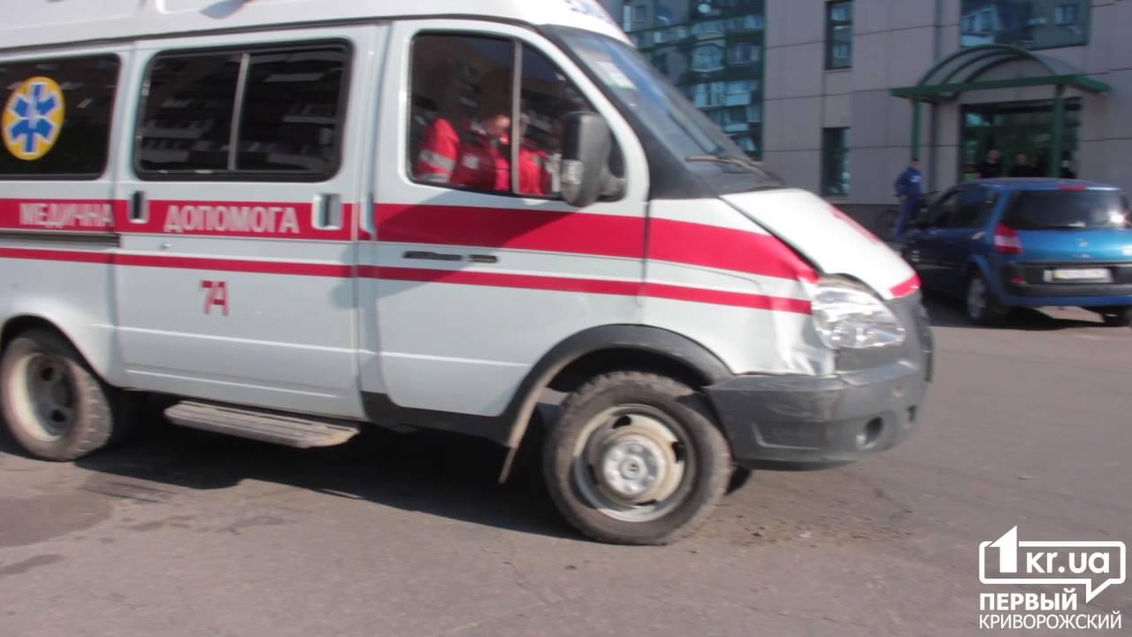 Дтп в Кривом Роге, скорая помощь протаранила Opel 22.04.2016 | 1kr.ua