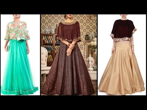 Latest Designer Cape Dresses 2017 | cape gown / lehenga dresses for girls / women