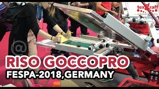 Screen Printing T-shirts at FESPA Berlin 2018 with RISO Goccopro