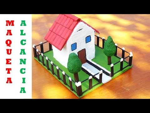Maqueta de casa con cart n reciclado how to make a model with recycled materials youtube Casas hechas de carton