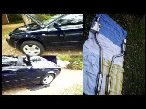 hqdefault audi a4 exhaust replacement youtube