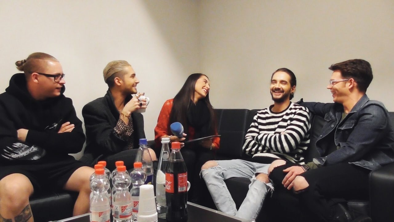 TOKIO HOTEL Backstage 2017 - VERY FUNNY Interview Part 1 - YouTube