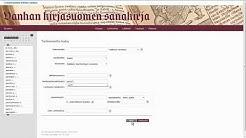Vanhan kirjasuomen sanakirjan opastusvideo 12 – Tarkennettu haku merkityksenselitteistä