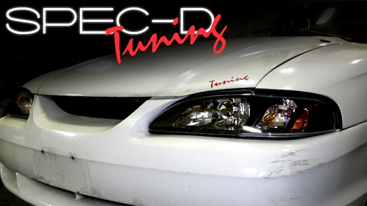 specdtuning installation video: 1994-1998 ford mustang 1-piece headlights -  youtube