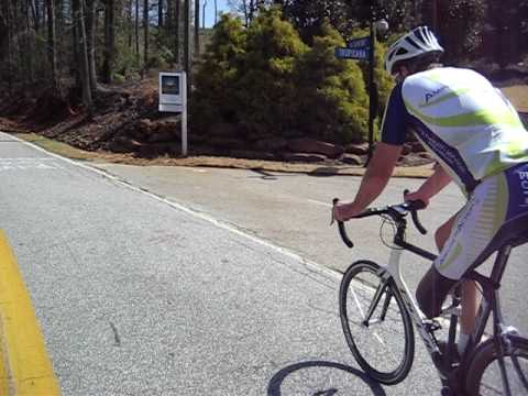Bryant Young time trialing up Paris Mountain