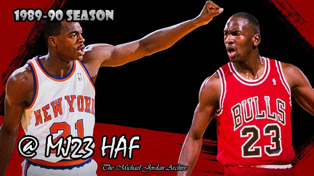 Michael Jordan vs Gerald Wilkins Highlights Bulls vs Knicks
