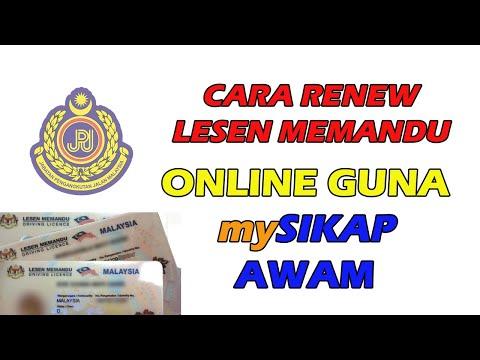 Cara Renew Lesen Memandu Online Guna Mysikap Awam