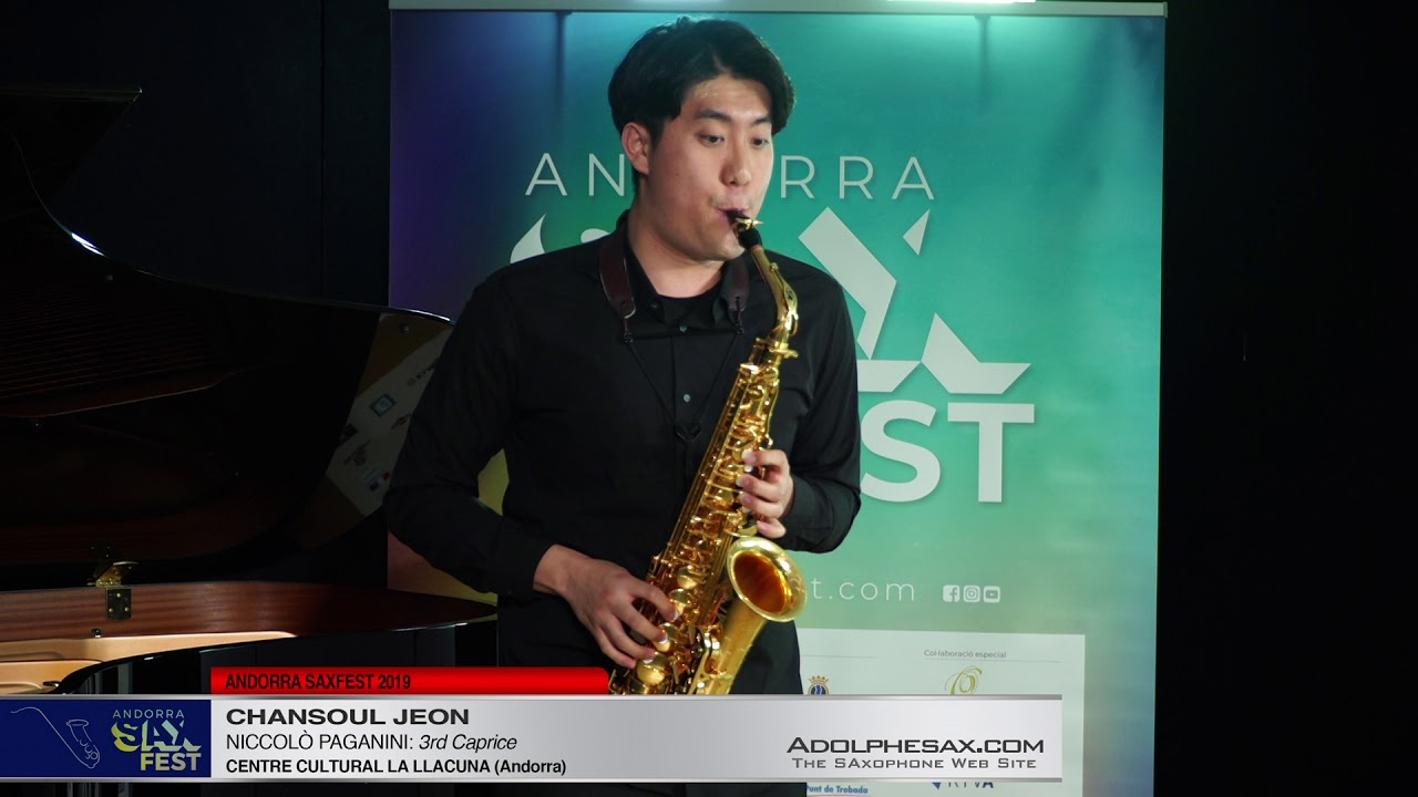 Andorra SaxFest 2019 1st Round   Chansoul Jeon   3rd Caprice by Niccolo Paganini