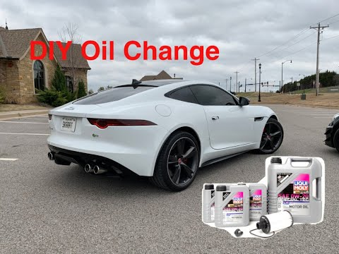Jaguar F-Type R – DIY Oil Change