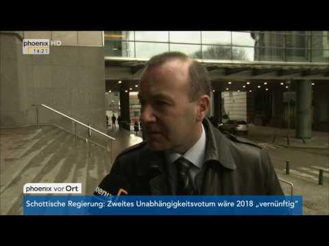 Europäischer Rat: Interview mit Manfred Weber am 09.03.2017