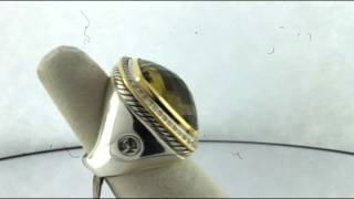 David Yurman Lemon Quartz Albion Ring