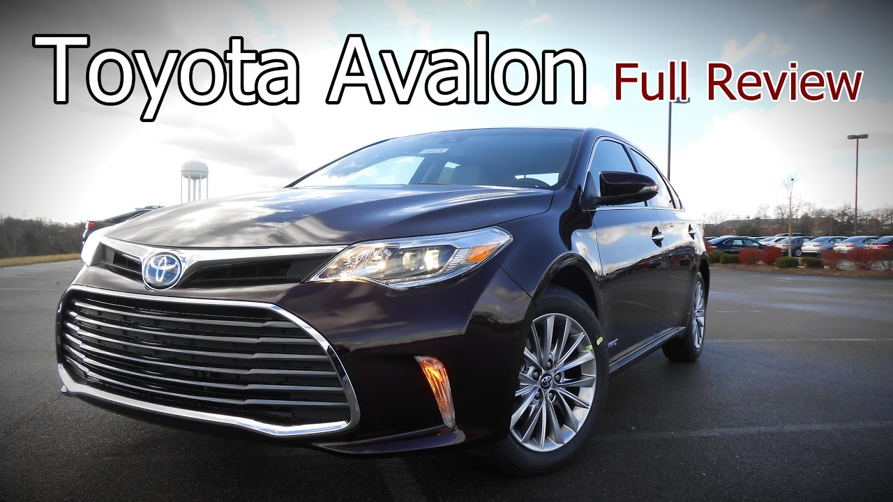 2017 Toyota Avalon Full Review Xle