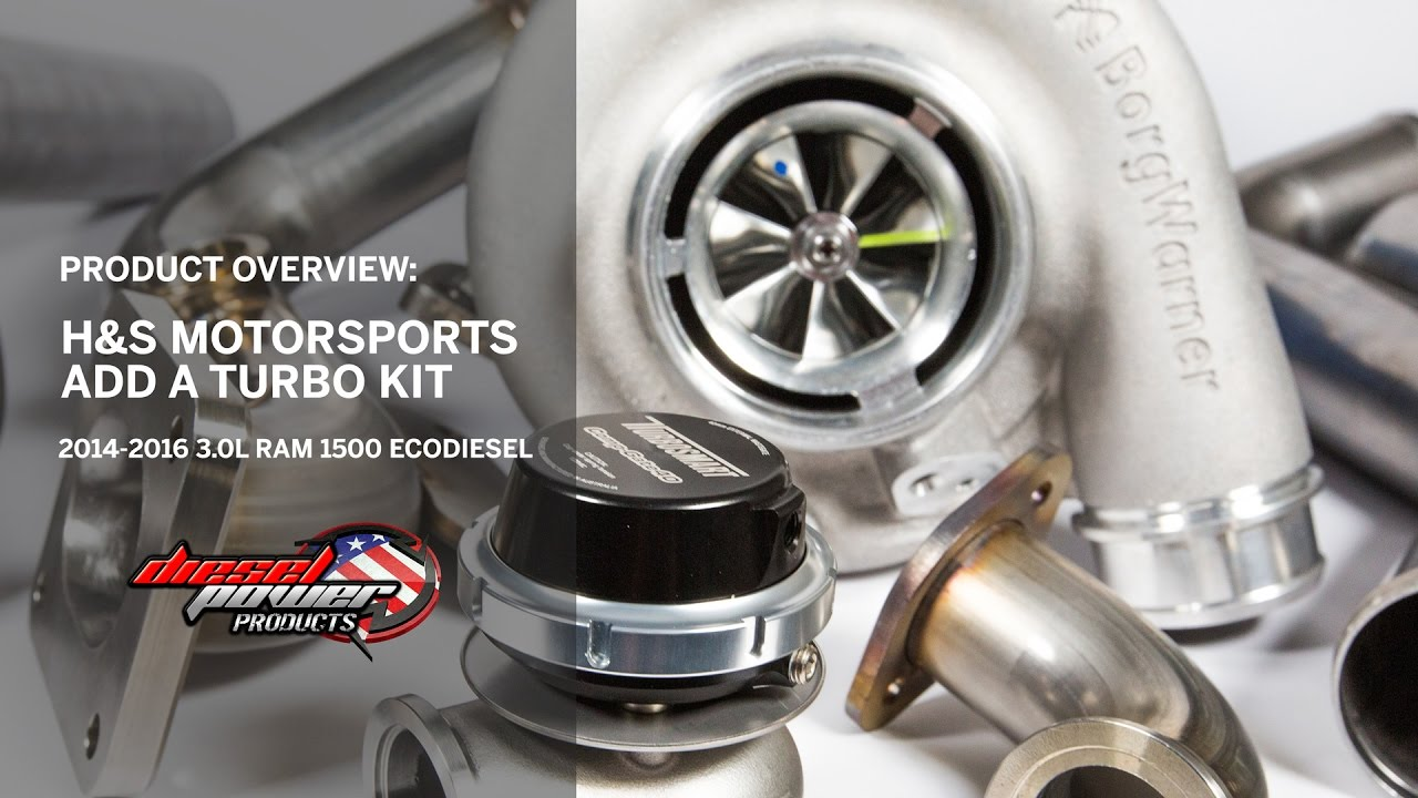 H&S Motorsports S364 5 SX-E Turbo Kit 14-17 Ram 1500 3 0L EcoDiesel