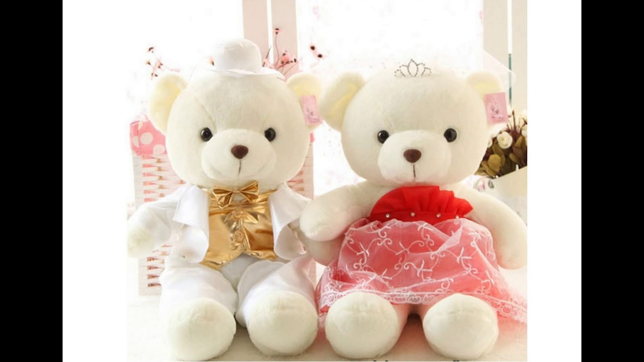 cute and sweet couple teddy bears youtube