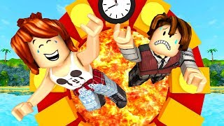 ROBLOX-TIME TRAVEL WITH VOLCANO (Adventure Time)
