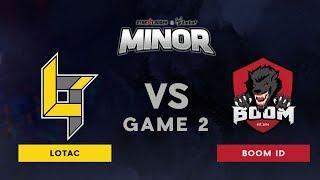 Lotac VS BOOM ID | Bo3 | Grand Finals | StarLadder ImbaTV Dota 2 Minor SEA Qualifiers | Game 2