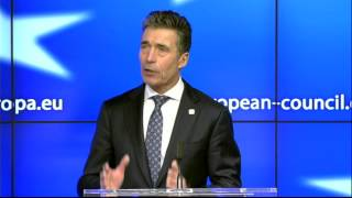 NATO Secretary General - Press Conference at the European Council, 19 December 2013, 1/2
