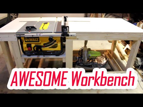 Easy DIY Workbench with Dewalt Table Saw DWE7480 Insert | Part 1 | JURO Workshop