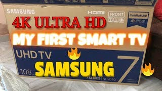 4K SAMSUNG UHD ANDROID 108 cm SMART TV | MY 1st SMART TV |