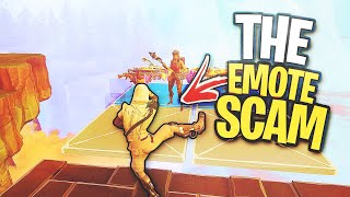 I used the EMOTE scam... 😱 (Scammer Gets Scammed) In Fortnite Save The World