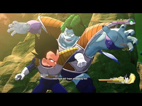 Dragon Ball Z Kakarot - Zarbon vs Vegeta Boss Battles Gameplay (Full FIght) (HD)