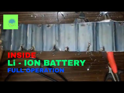 what's inside a lithium battery | Li-ion Battery operation full video |