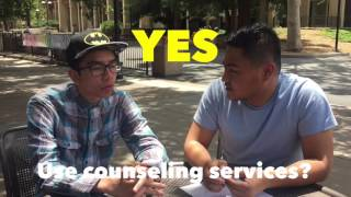 We spent some time talking to students about the counseling service...
