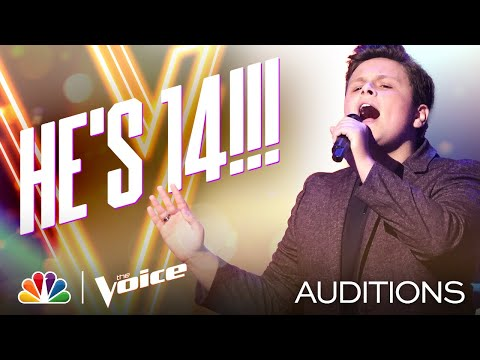 """Carter Rubin Is 14 and Delivers on Lewis Capaldi's """"Before You Go"""" - The Voice Blind Auditions 2020"""