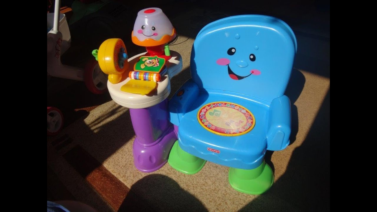 Fisher Price Laugh And Learn Chair Pink Orange Dining Musical Activity