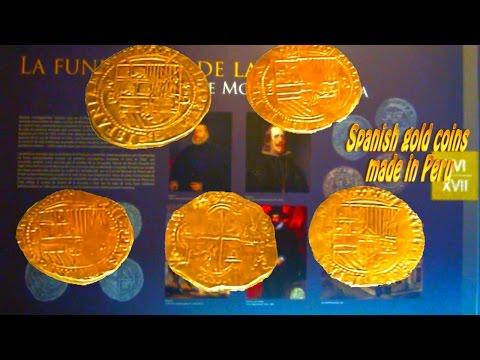 Spanish gold coins made in Peru