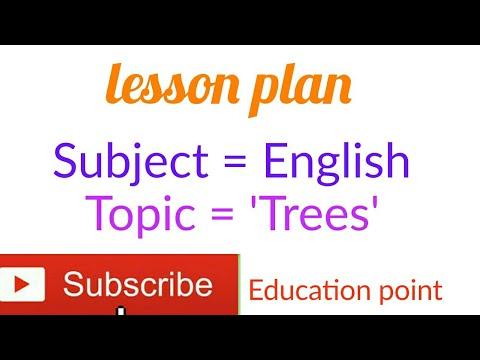 English Lesson Plan / Topic = Trees / Class = 4th  For D.el.ed, JBT, Nios, BTC