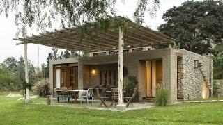 Casa de campo con materiales de construcción autóctonos