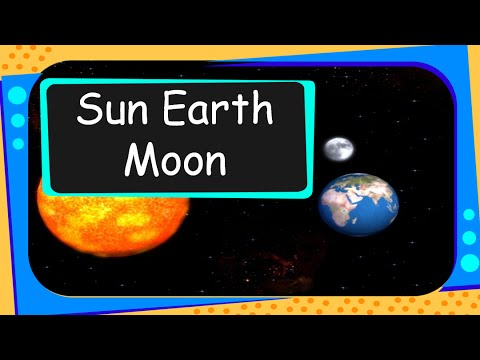 Science Universe Sun Earth And Moon English Youtube