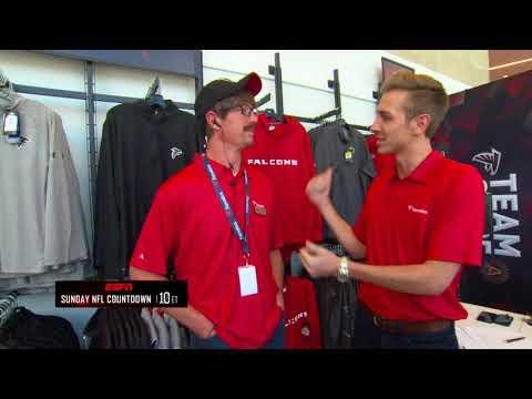 ESPN Sunday NFL Countdown : Matt Ryan goes undercover from the atics  Falcons Team Store