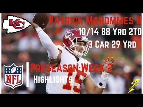 Patrick Mahommes II Preseason Week 2 Highlights | Strong Arm! | 8/19/2017