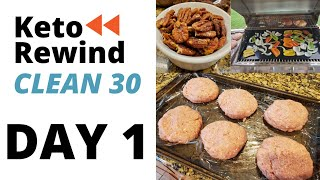 KETO REWIND CLEAN 30 DAY 1 FULL DAY OF EATING │RECIPES PLUS TRACKING MACROS│WHAT I DO TO LOSE WEIGHT